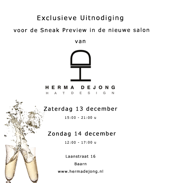 Herma de Jong opens her new salon and we are there!