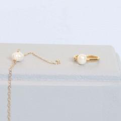 Fresh water pearl set
