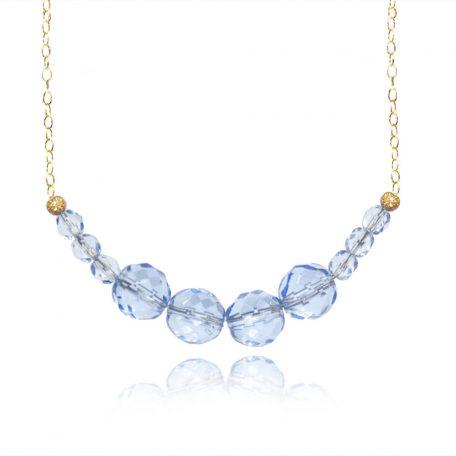 collier-blauw-kraal-wit