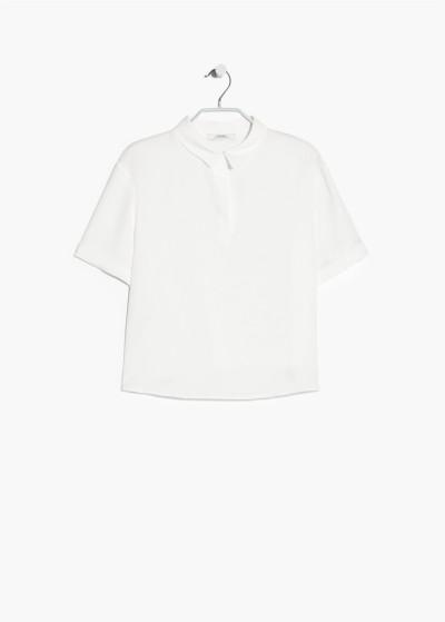 Mango: Top met overhemdkraag